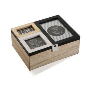 Dřevěný box s fotorámečky Versa Erling