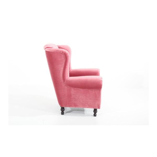 Růžové křeslo Max Winzer Vary Velvet