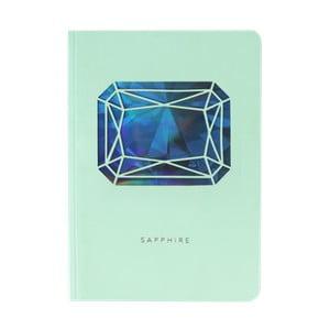 Zápisník A6 Portico Designs Safír, 160stránek