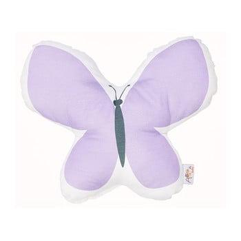 Pernă din amestec de bumbac pentru copii Apolena Pillow Toy Butterfly, 26 x 30 cm, mov imagine