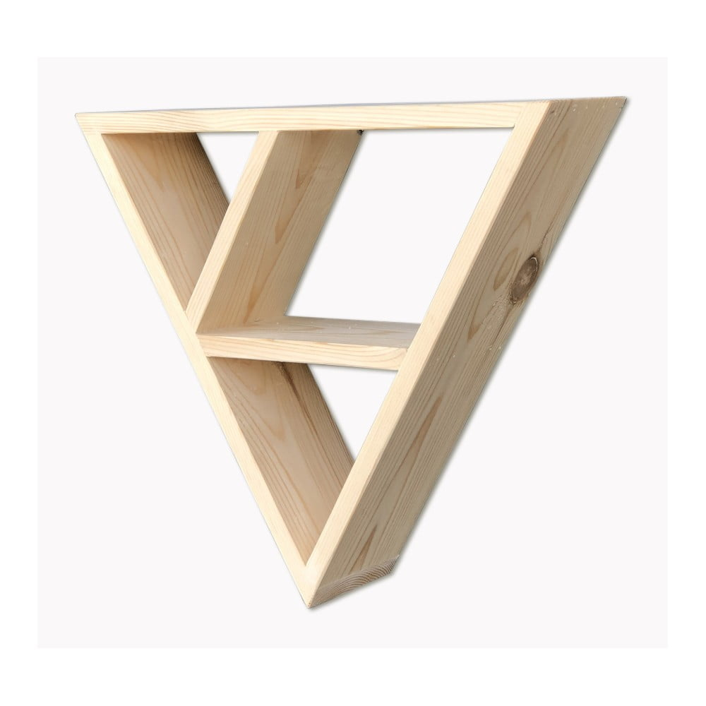 Dřevěná nástěnná police Simple Triangle