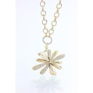 Pozlacený náhrdelník s krystaly Swarovski Elements Laura Bruni Květina