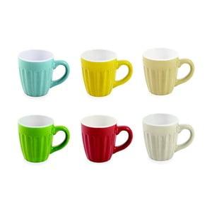 Set 6 căni colorate din ceramică Villa d'Este Daily Caffe, 90 ml