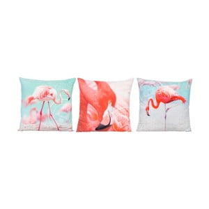 Set polštářů Flamingos 45x45 cm, 3 ks