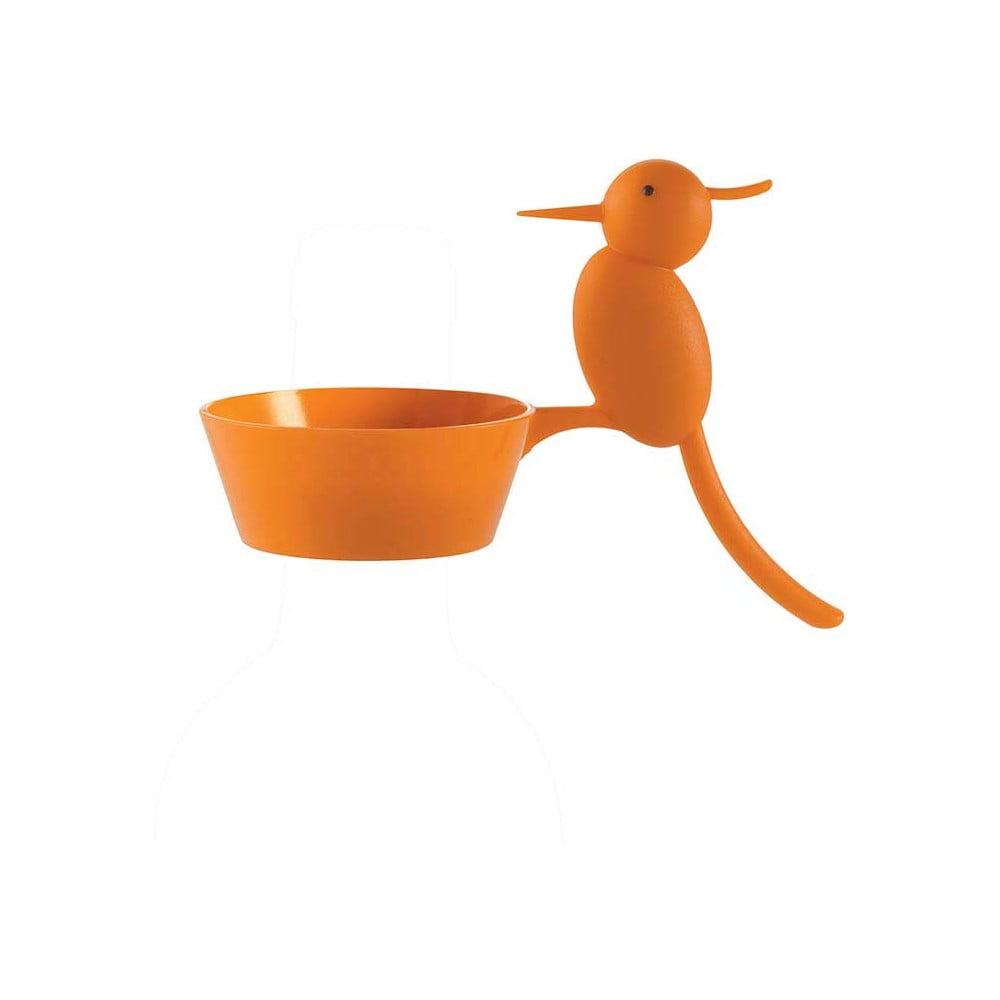 Oranžový odkapávací kroužek na víno e-my Woody