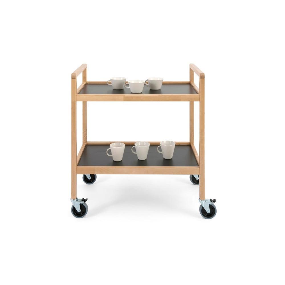 Ručně vyráběný pojízdný vozík z masivního březového dřeva Kiteen Joki