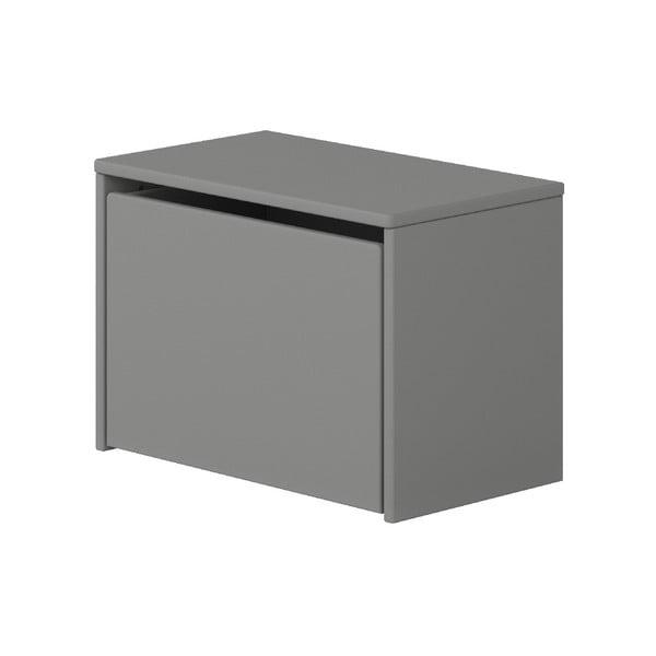 Sivá úložná lavica Flexa Play