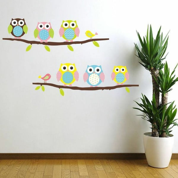 Set autocolante Ambiance Owls and Birds on Tree