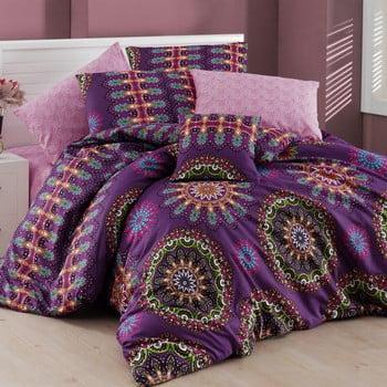 Lenjerie de pat cu cearșaf Hula, 200x220cm