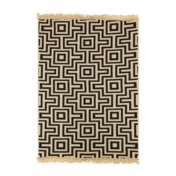 Kare sötétkék szőnyeg, 120 x 180cm