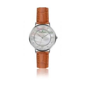 Dámské hodinky s koňakově hnědým páskem z pravé kůže Frederic Graff Silver Liskamm Croco Ginger
