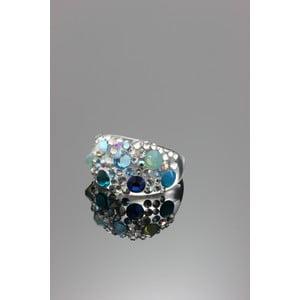 Prsten Ring Swarovski Elements Aqua, velikost L