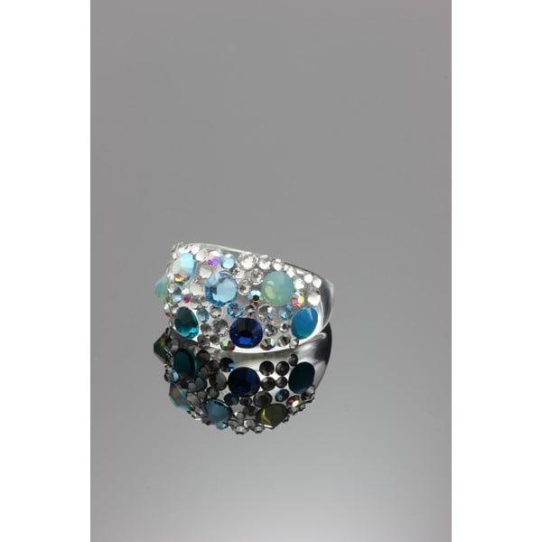 Prsten Ring Swarovski Elements Aqua, velikost M
