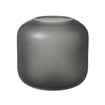 Vază din sticlă Blomus Bright, înălțime 17 cm, gri