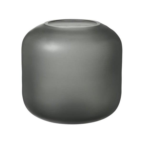 Sivá sklenená váza Blomus Bright,výška17cm