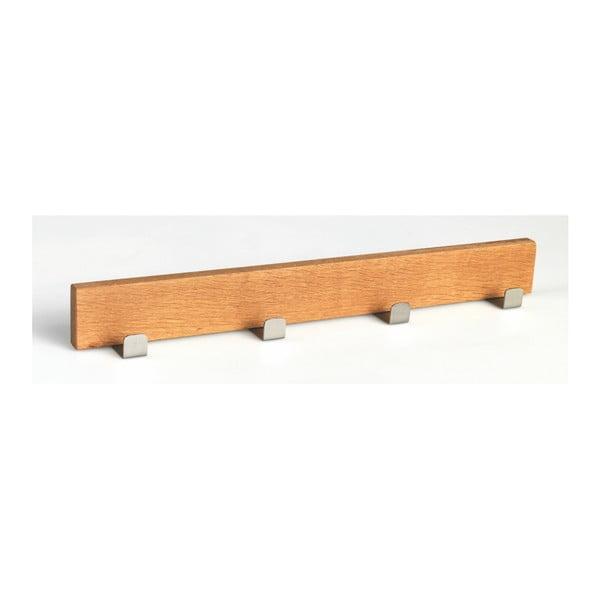 Cuier din lemn de stejar natural cu 4 cârlige Rowico Sol