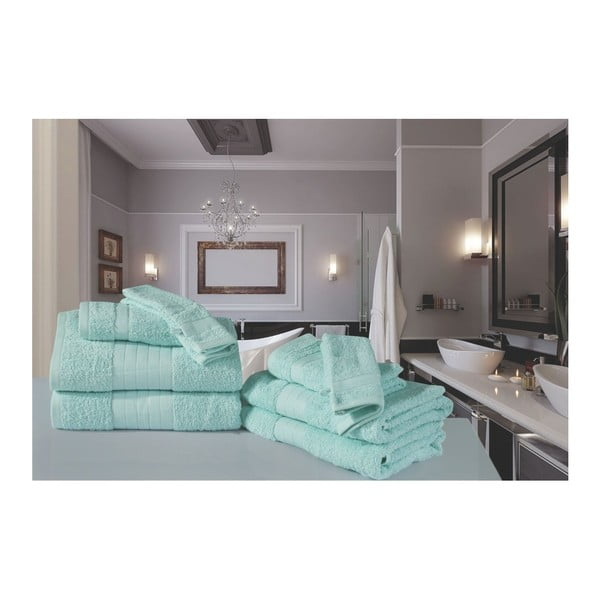 Kúpeľňový set osušiek a rukavíc z bavlny Muller Textiels Sinno