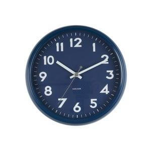 Ceas de perete Present Time Badge, albastru