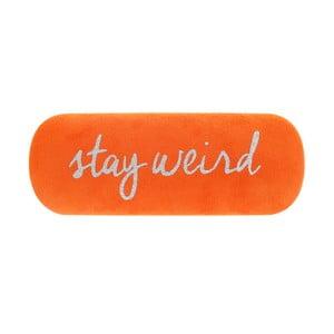 Oranové pouzdro na brýle Statement Pieces Stay Weird, 17 x 6 cm