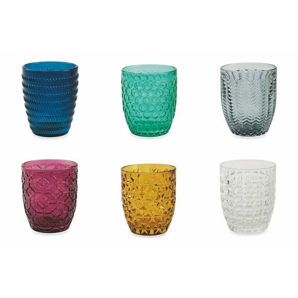 Súprava 6 farebných pohárov Villa d'Este Geometrie, 240 ml