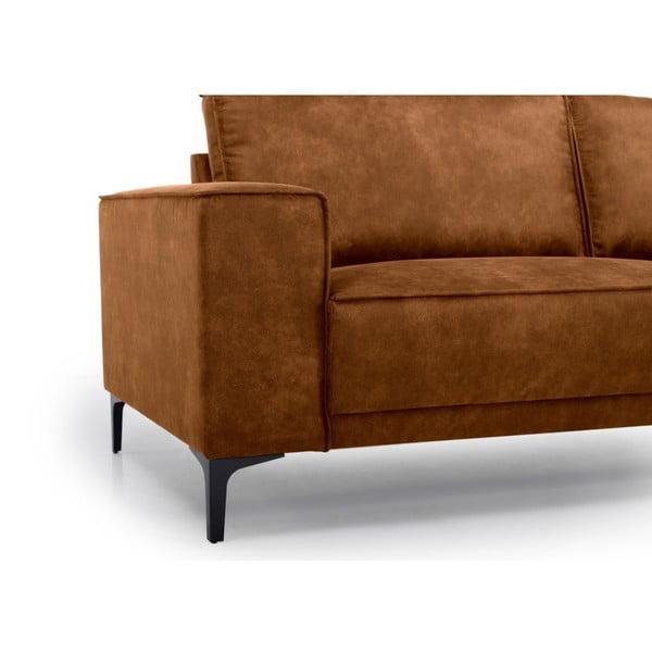Canapea cu 3 locuri Softnord Copenhagen, maro coniac