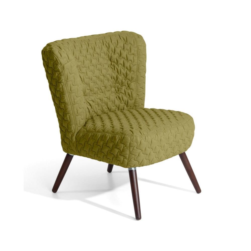 Zelené křeslo Max Winzer Neele Structured