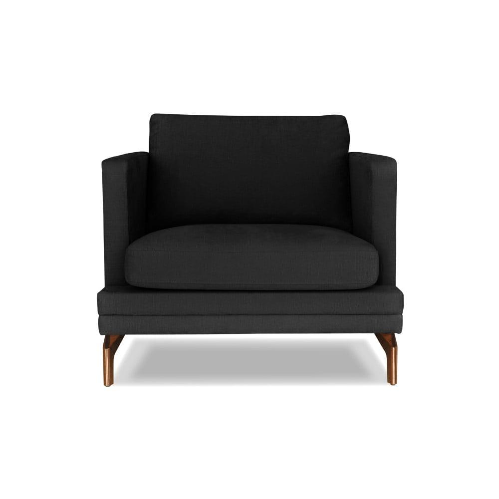Tmavě šedé křeslo Windsor & Co. Sofas Jupiter