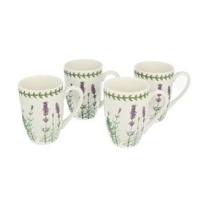 Set 4 porcelánových hrnků Lavender