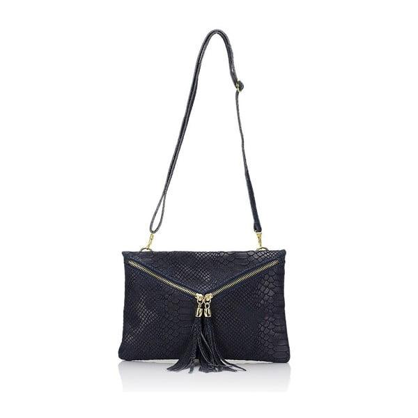 Tmavě modrá kožená kabelka Giulia Massari Erinn