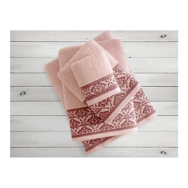 Lososový ručník Irya Home Felice, 50x90 cm