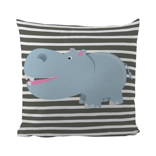 Polštář Hippo in Grey, 50x50 cm