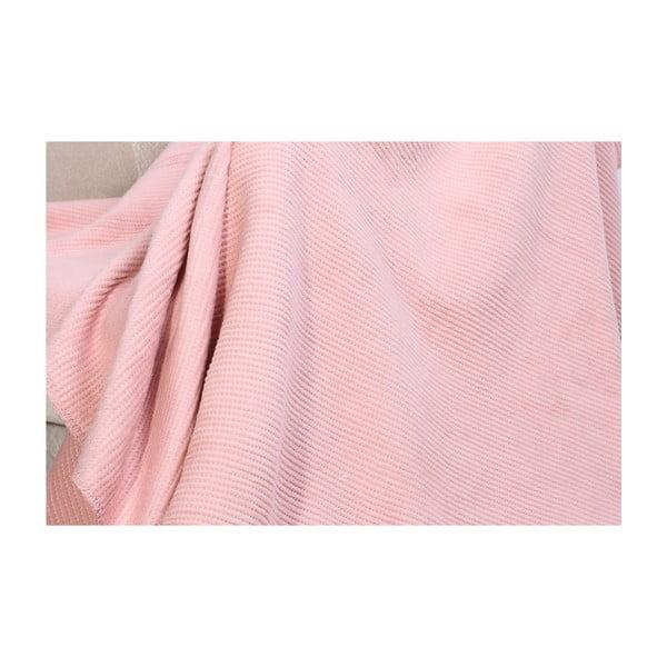 Deka s příměsí bavlny Aksu Pudra, 200 x 150 cm