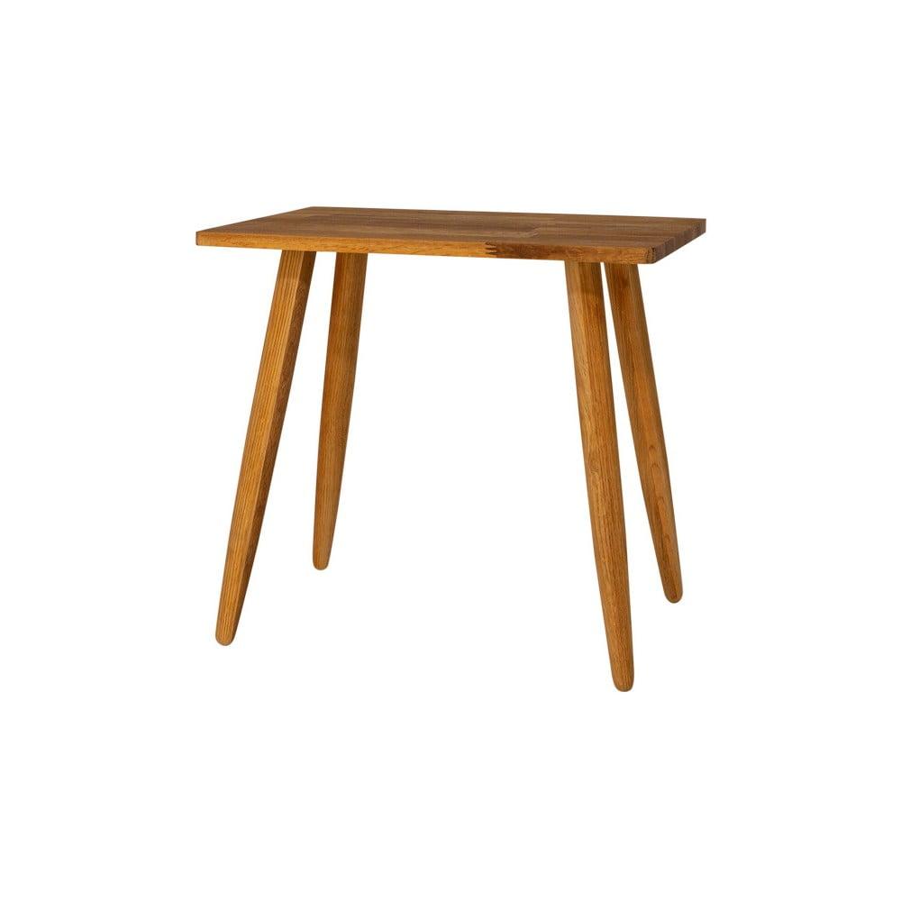 Stolička z masivního dubového dřeva Canett Uno, výška 45cm
