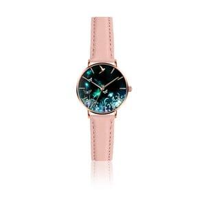 Dámské hodinky s růžovým páskem z pravé kůže Emily Westwood Dream