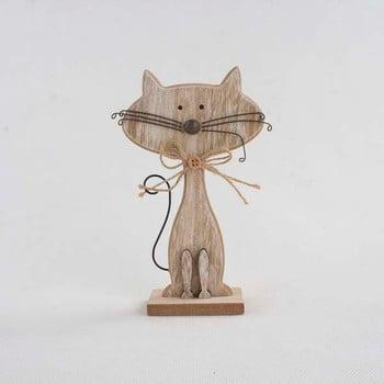 Decorațiune din lemn în formă de pisică Dakls Cats, înălțime 25cm de la Dakls