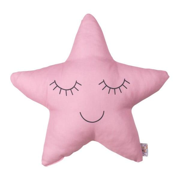 Růžový dětský polštářek s příměsí bavlny Apolena Pillow Toy Star, 35 x 35 cm
