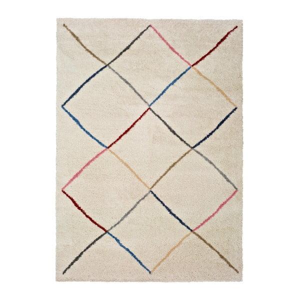 Kasbah White fehér szőnyeg, 133x190 cm - Universal