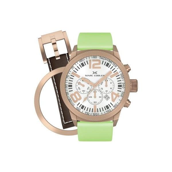 Dámské hodinky Marc Coblen s páskem a kroužkem navíc P27