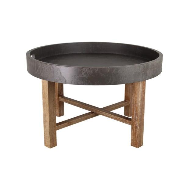 Konferenční stolek s podnožím z mahagonového dřeva HSM collection Industry, ⌀62cm