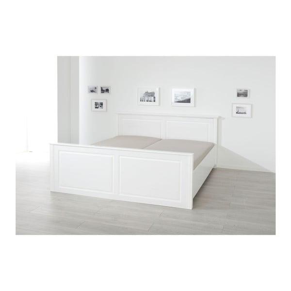 Bílá postel z borovicového dřeva Interlink Danz, 180 x 200 cm