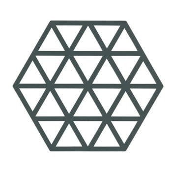 Suport din silicon pentru vase fierbinți Zone Triangles, gri - verde imagine