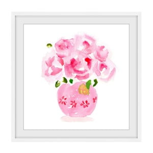 Obraz na plátně Marmont Hill Roses Are Pink, 41 x 41 cm