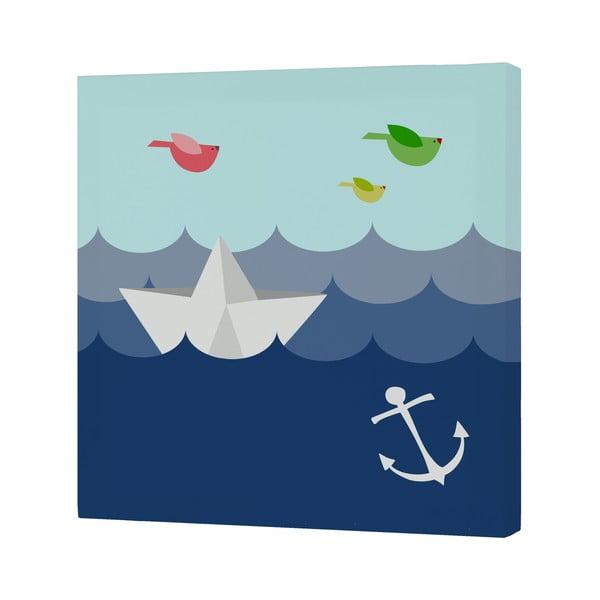 Nástěnný obrázek Whale Ride, 27x27 cm