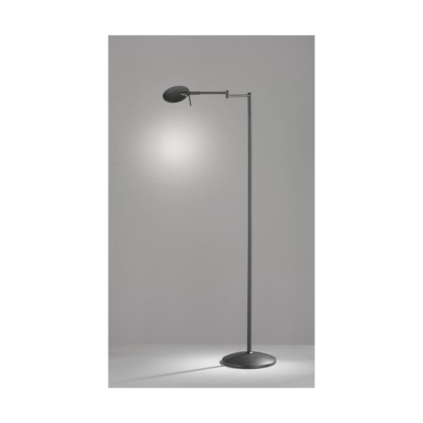 Lampadar LED Trio Kazan, înălțime, negru