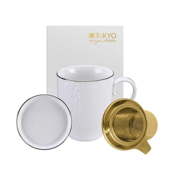 Bílý set na čaj Tokyo Design Studio Nippon Wave, 380ml