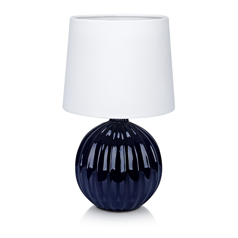 Modro-bílá stolní lampa Markslöjd Melanie