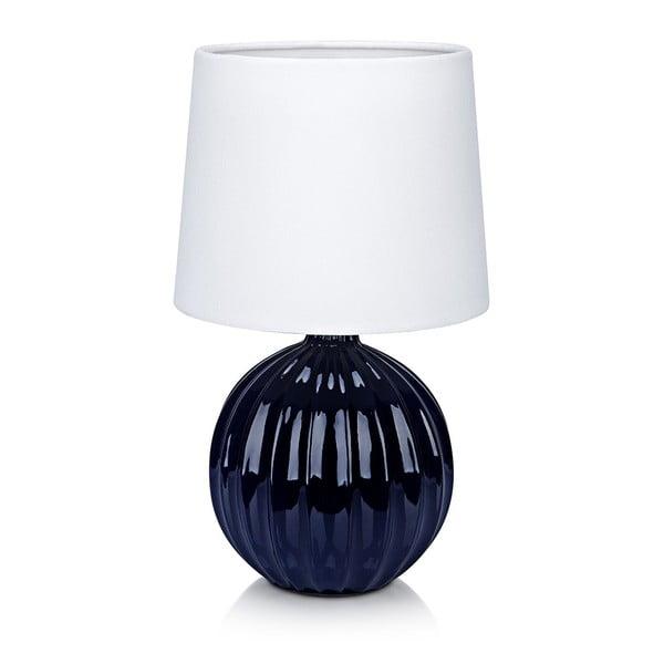 Niebiesko-biała lampa stołowa Markslöjd Melanie