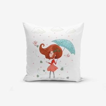 Față de pernă Minimalist Cushion Covers Girl With Umbrella, 45x45cm de la Minimalist Cushion Covers