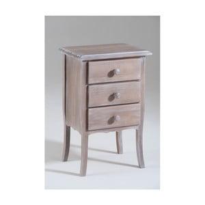 Dřevěný noční stolek se 3 zásuvkami Castagnetti Ether