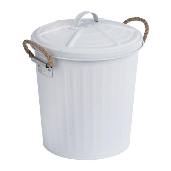Biały kosz na śmieci ze stali nierdzewnej Wenko